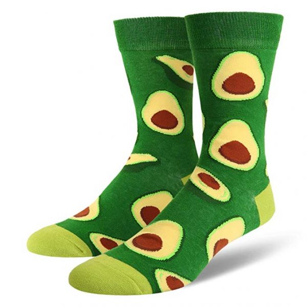 Avocado Novelty Socks Dark Green