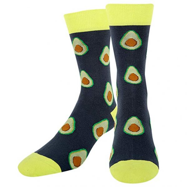 Avocado Novelty Socks Dark Grey