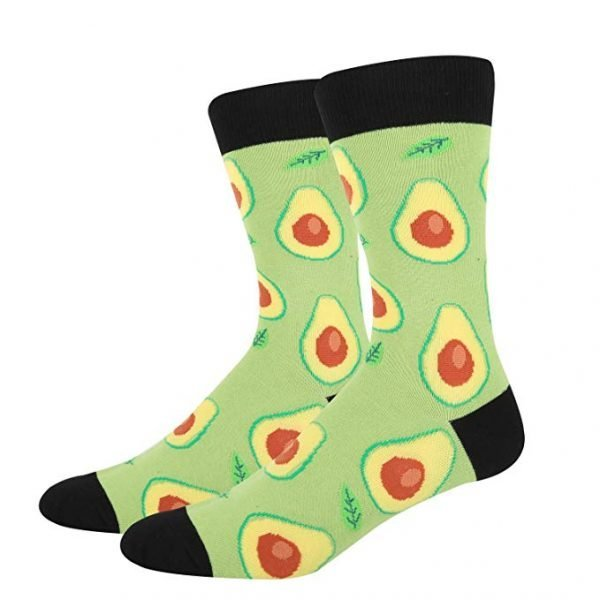 Avocado Novelty Socks Light Green